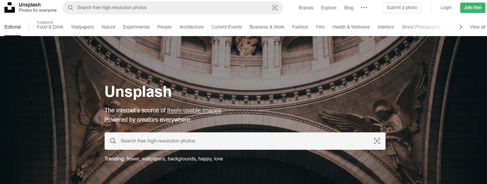 UnSplash免费图片素材下载网