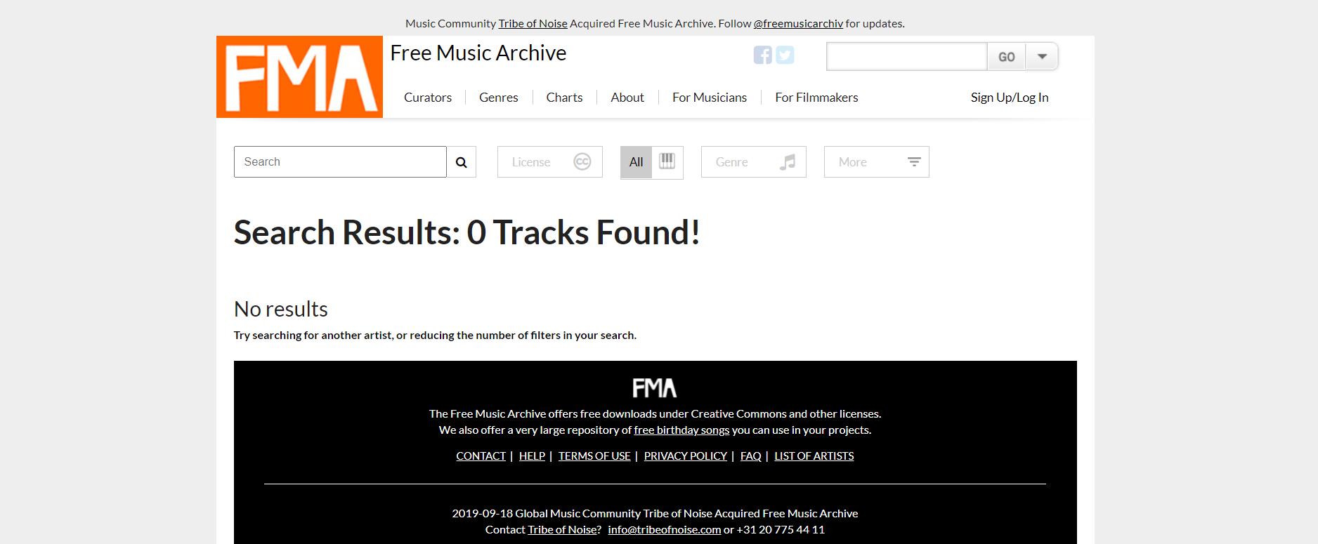 Free Music Archive音频素材下载网站