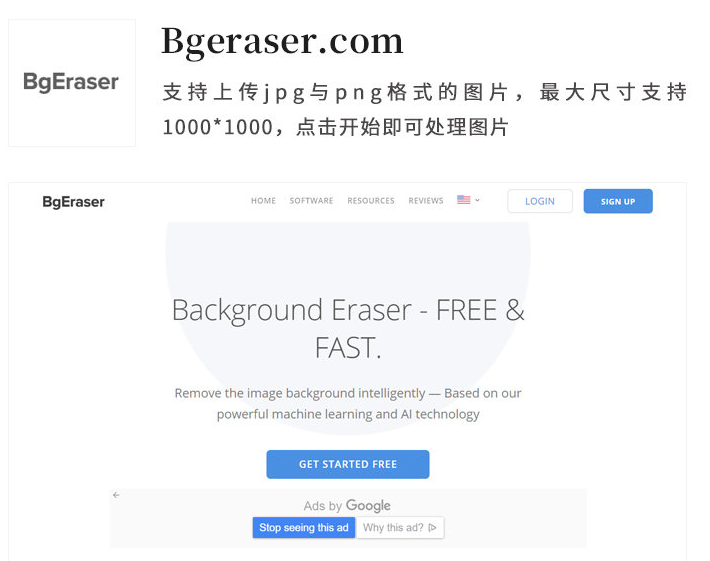 Bgeraser.com一键在线抠图网站