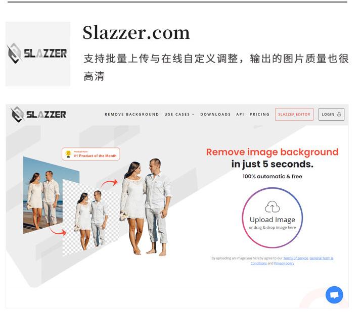 Slazzer.com一键在线抠图网站